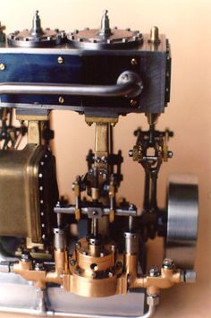 Rear view of Bill Huxhold's 1997 entry in the Sherline contest was this very intricate triple expansion steam engine.