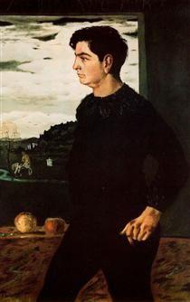 Portrait of Andrea, brother of the artist - Giorgio de Chirico