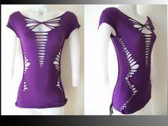 Juniors / Womens Blank Purple Cut Shredded by LasciviousGrace, $48.00