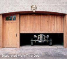 Residential Walk Through Custom Doors CarportGarage