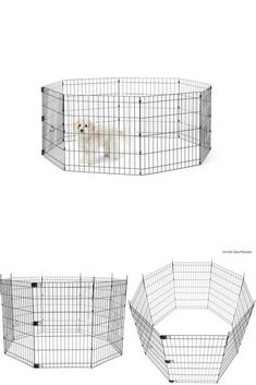 FYI: Foldable Metal Dog Playpen Pet Exercise Rest Sleep Portable Easy Setup Metal 36""