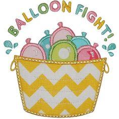 Balloon Fight Applique - Planet Applique Inc