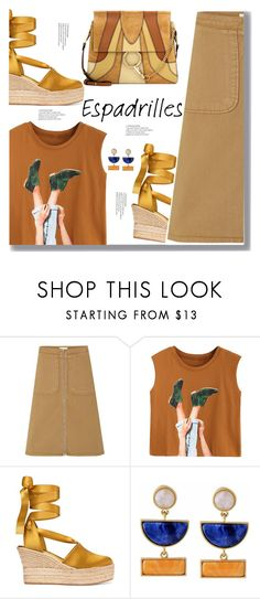 """""""Espadrilles"""" by drigomes ❤ liked on Polyvore featuring Tory Burch, Kakao By K and Chloé"""