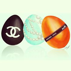 Wishing you all an EGGCELLENT Easter. #evelynandchristine #chanel #tiffany #hermes #eggs #easter