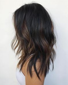Black Hair With Subtle Brown Highlights #beautyhair