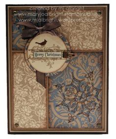 "Stampin up card.  I could use my ""once Upon a Time"" papers fir this look"