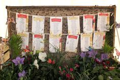 Br&newweddings / Bespoke Wedding Stationery / Table Plan / Suitcase Table Plan / Floral Wedding / Vintage Table Plan / Shabby Chic Wedding / Wild Meadow Wedding / www.brandnewweddi...
