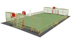 Multisports areas, outdoor fitness equipment, exercice courses and convivial sports areas by Husson International