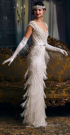 Anos 20s, Flapper Girls, Flapper Dresses, Flapper Outfit, Vintage Flapper Dress, The Flapper, 1920s Vintage Wedding Dress, White Flapper Dress, Flapper Costume