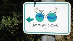 Rad-Wegweiser an der Hase-Ems-Tour