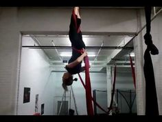 German Wheel on Aerial silks. This is a great video to watch. I was able to do it just by watching once