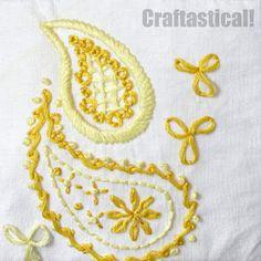 Sunshine paisley embroidery pattern