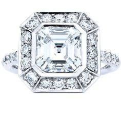 Bling, Bling    The brilliant facets of this Asscher cut diamond twinkle in the light.    By Anna Hu Haute Joaillerie