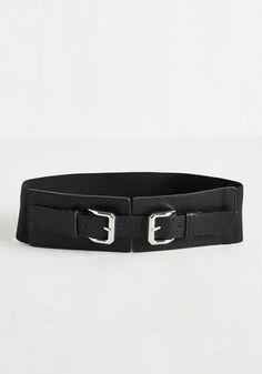 Jukebox Jamboree Belt in Black - Black, Work, Casual, Summer, Better, Silver, SF Fit Shop