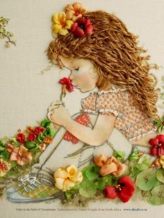 pictureperfectforyou:  (via Di van Niekerk's Silk Ribbon Embroidery)