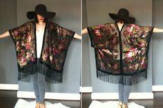 DIY Vintage Kimono Shawl