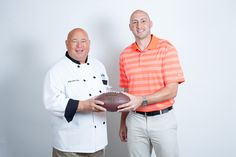 Chef Jim with Brian Hoyer, Cleveland's local Quarterback.