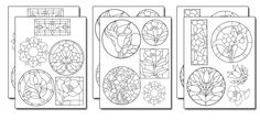 Royalty FREE - Stencil Designs Pre-Printed Stick N Burn Design Transfer Sheets