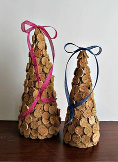 Wine Cork TreesSet of 2 Spring Decor Christmas by LizzieJoeDesigns, $45.00