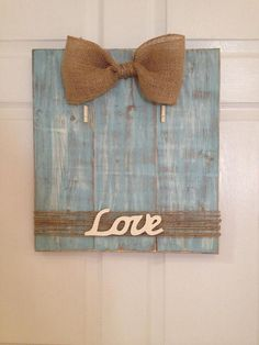 Handmade wooden picture frame with burlap bow and twine. Hand painted. Holds 8x10 pictures. Made to order. on Etsy, $40.00