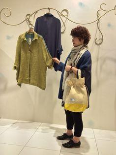 ShopassistantB 綿麻のリネンオーバージャケットで涼しくおしゃれに出掛けましょう♪ オリジナルバッグもとても可愛いです( ^ω^ )