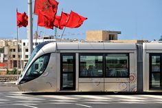 Citadis tramway in commercial service in Rabat, Morocco. Copyright: Alstom Transport / P.Thebault