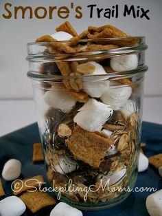 S'mores Trail Mix is delicious and super easy to make. Kids will love having this as a snack or in their lunch as a special treat!