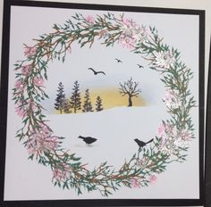 1 Scrapbook Paper Crafts, Scrapbooking, Christmas Themes, Christmas Crafts, Cardio Cards, Art Impressions, Card Io, Winter Cards, Flower Cards