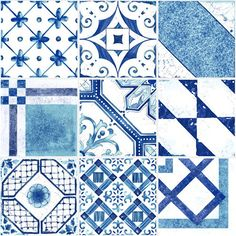 Palladio Blue Mix Decorative Tiles | Mandarin Stone | Beautiful traditional designs adapted for today's stylish interiors.