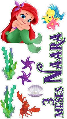 Love Cake Topper, Cake Toppers, Cute Disney, Disney Art, Minnie Mouse Images, Baby Mickey, Tole Painting, Christmas Crafts For Kids, The Little Mermaid