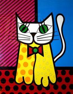 Cat by Romero Britto