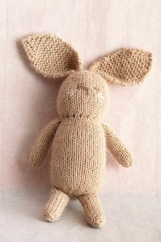 Knit Little Bunny in Lion Brand Superwash Merino Cashmere - free pattern