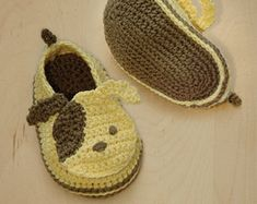 CROCHET PATTERN Sheep Baby Booties Symbol Diagram by meinuxing