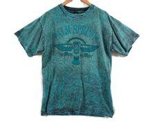 Vintage 90s Palm Srings Acid Wash Tourist Tee - Medium - 90s Clothing…