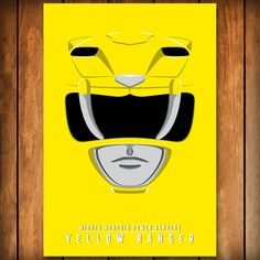 Yellow Ranger Helmet - Mighty Morphin Power Rangers Poster