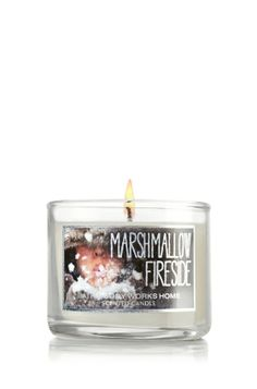 Mini Candle // Bath and Body Works // Marshmallow Fireside        This is my all time favorite candle atm ~~E.B