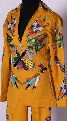 """70s Vintage Nudie's Rodeo Tailors of North Hollywood, California """"Nudie Suit""""…"""