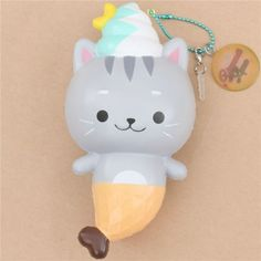 Creamiicandy kitty cat ice cream mermaid scented squishy