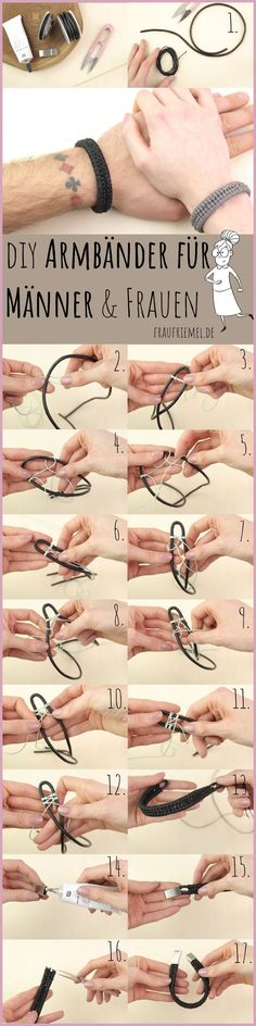 Make bracelets for men themselves - DIY Armbänder knüpfen Diy Bracelets To Sell, Diy Jewelry To Sell, Diy Jewelry Making, Jewelry Making Supplies, Bracelets For Men, Bracelet Making, Jewelry Crafts, Sell Diy, Jewelry Bracelets