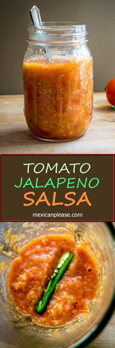 This Tomato Jalapeno Salsa is the Mother of all Mexican Salsas.  Roasting the tomatoes and adding the heat incrementally is the key to creating a perfect homemade salsa.  So good!  mexicanplease.com