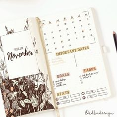 Wild Flowers Monthly Log Printable for Bullet Journal, Monthly Layout Spread, Goals Tasks List and Social Stats, PDF PRINTABLE Wild Flowers Monthly Log / Bullet Journal Insert / Monthly Spread / Goals & Tasks List / Social Stats