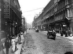 Old Photographs Of Glasgow Glasgow Scotland, Scotland Travel, Old Pictures, Old Photos, Liverpool History, Old Photographs, Street Photographers, Street View, City