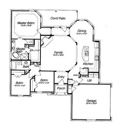 open floor house plans | Beautifull Open Floor Plan (HWBDO14810) | French Country House Plan ...