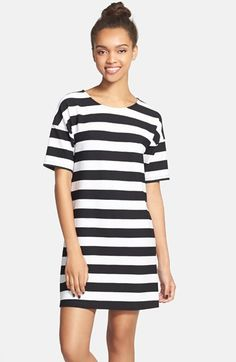 Free shipping and returns on Painted Threads Stripe Shift Dress (Juniors) at Nordstrom.com. Classic stripes pattern a figure-flattering shift dress fashioned from a stretch fabric blend.