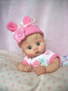 ❤OOAK HAND SCULPTED BABY KAYLEE BY: JONI INLOW* DOLLY-STREET❤