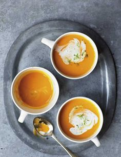 We love this bright and warming soup with a hit of lime and ginger. Orange sweet potatoes are sweet, full of flavour and nutrients, and make a good alternative to the great British potato. This recipe is mildly spicy and exotic. A swirl of cream works a treat. Add crusty bread on the side if you like.