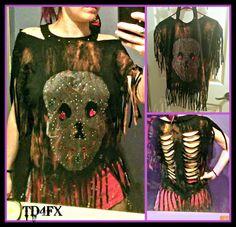Rockabilly Goth Lace Skull Halter Open Back Rhinestone Fringe Shirt Dress M  #fashion #trends #ShirtDress #Skulls #DIY #Lace #Pretty #Goth #Punk