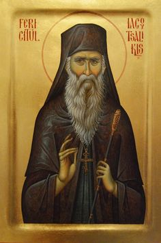Elder Iakovos [Jacob] Tsalikis of Evil Roman Church, Roman Catholic, Byzantine Icons, Orthodox Christianity, Orthodox Icons, Christian Art, Little Sisters, Religion, Artwork