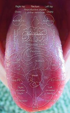Diagnóstico de tu estado de salud a través de la lengua. #infografía