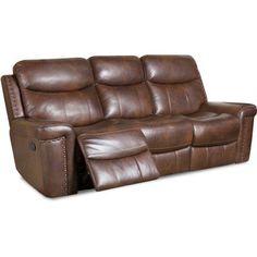 Aspen Leather Double Reclining Sofa